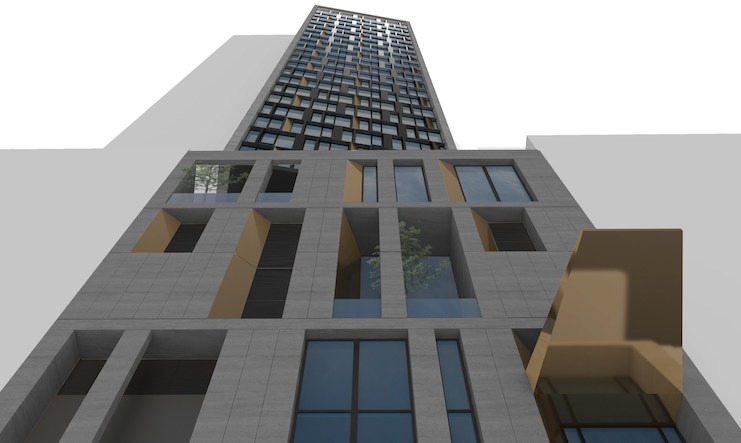 Rendering of the world's future tallest modular hotel, AC Hotel New York NoMad (Design and photo credit: Danny Forster & Architecture)