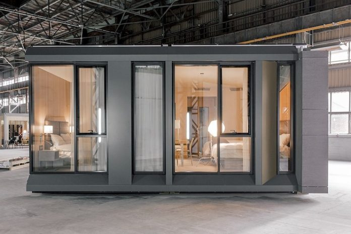"""Besides finished, painted walls, each """"module"""" will contain a fully outfitted guest room – with beds, sheets, pillows, flooring and even toiletries. (Design and photo credit: Danny Forster & Architecture)"""