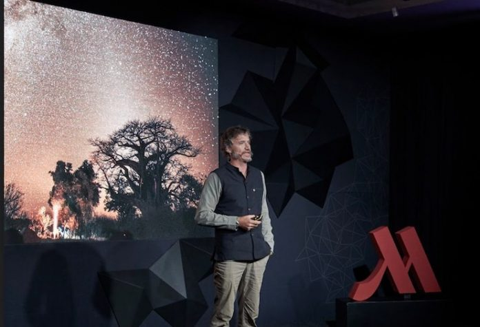 Dr. Steven Boyes at Marriott TED Fellows Salon in Cape Town, courtesy of Marriott Hotels.