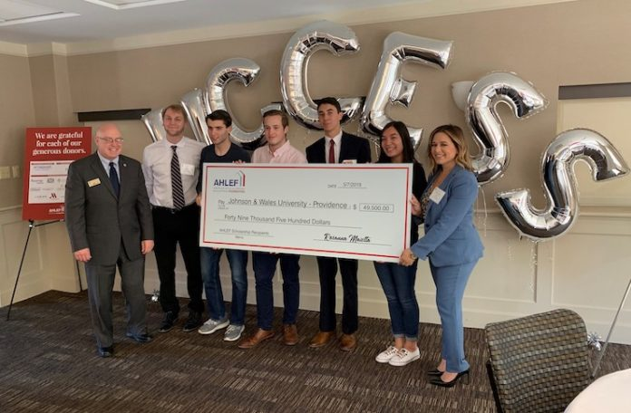 AHLEF Honors Scholarship Recipients at Johnson & Wales-Providence
