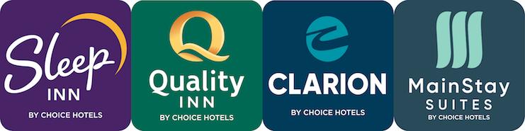 Sleep Inn, Quality Inn, Clarion, MainStay Suites logos