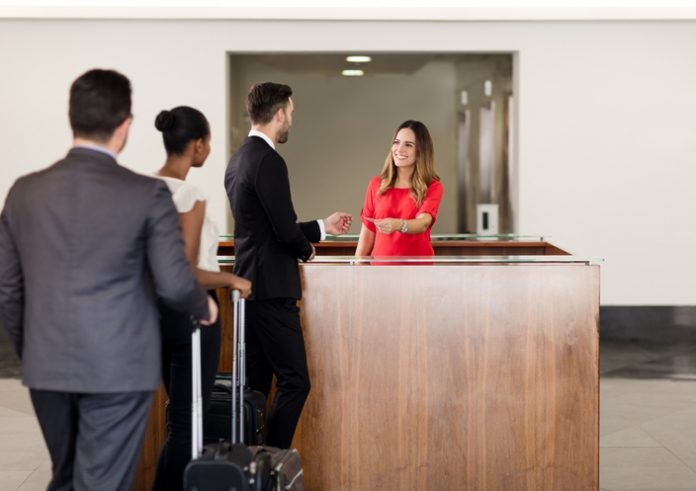 Group business hotel - corporate travel - business traveler
