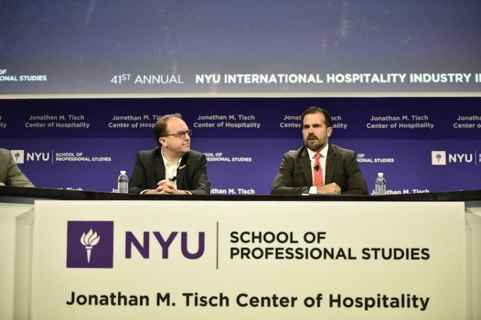Anatomy of Transaction panel at the 41st Annual NYU International Hospitality Industry Investment Conference held in New York (Photo credit: Tom Weis)