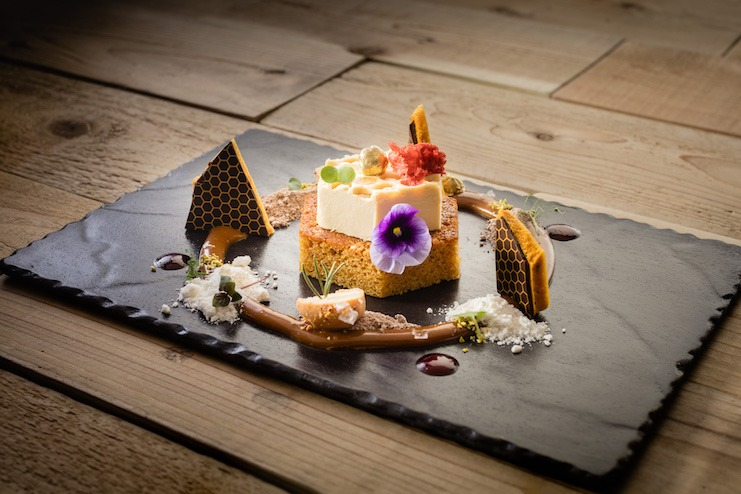Honey dessert at Fairmont Chateau Whistler (Photo courtesy of Fairmont Hotels & Resorts)