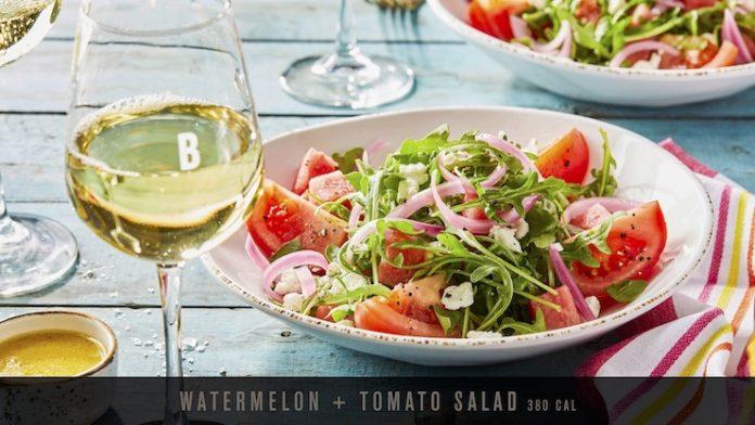 The Bistro Bar Summer Menu - tomato and watermelon salad