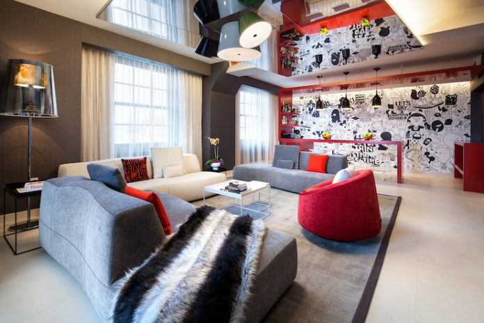 W Washington DC Wow Suite Living Room