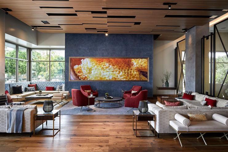 Lounge at the Marriott Irvine Spectrum