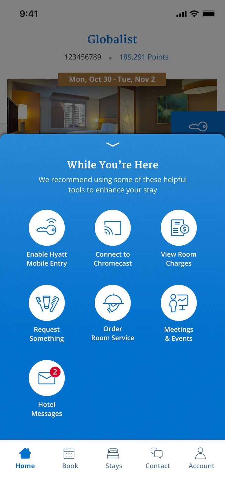 World of Hyatt app