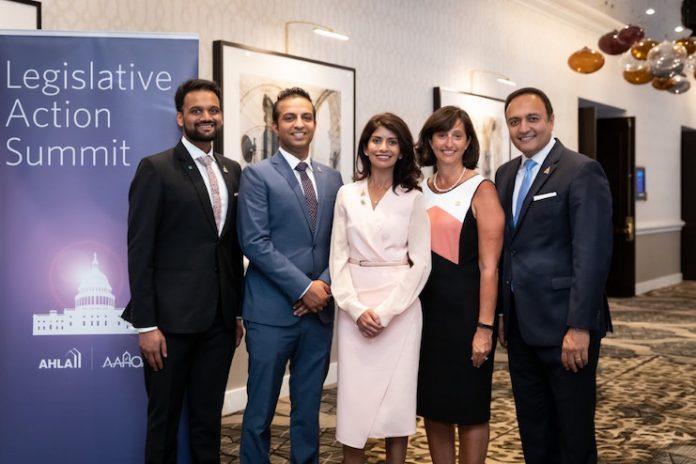 (From the left) Neal Patel, Biran Patel, Jagruti Panwala, Rachel Humphrey, and Vinay Patel