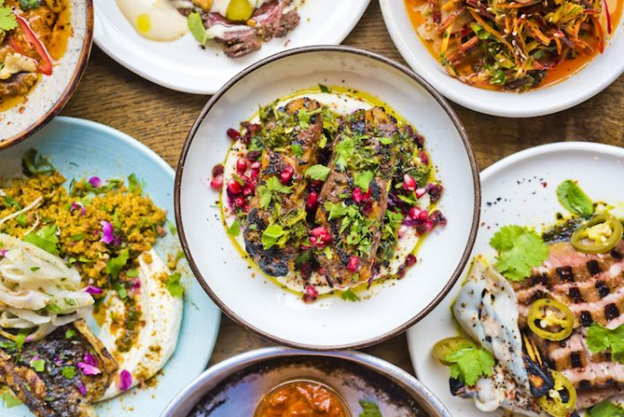 Multiple dishes from BABA Restaurant and Bar in Edinburgh - Kimpton Culinary and Cocktails Trend Forecast