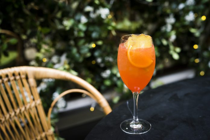 Ginger Watermelon Spritz at The Garden in Edinburgh, Scotland (Photo Credit: Gemma Harrison)