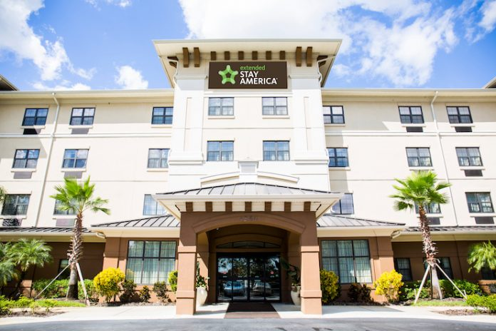 The recently-converted Extended Stay America in Lakeland, Fla.