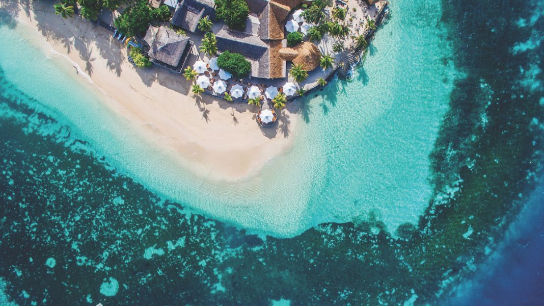 Castaway Island Fiji Aerial - Jeff Wagoner 2019 LODGING Person of the Year