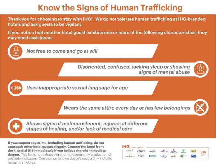 IHG anti-human trafficking training