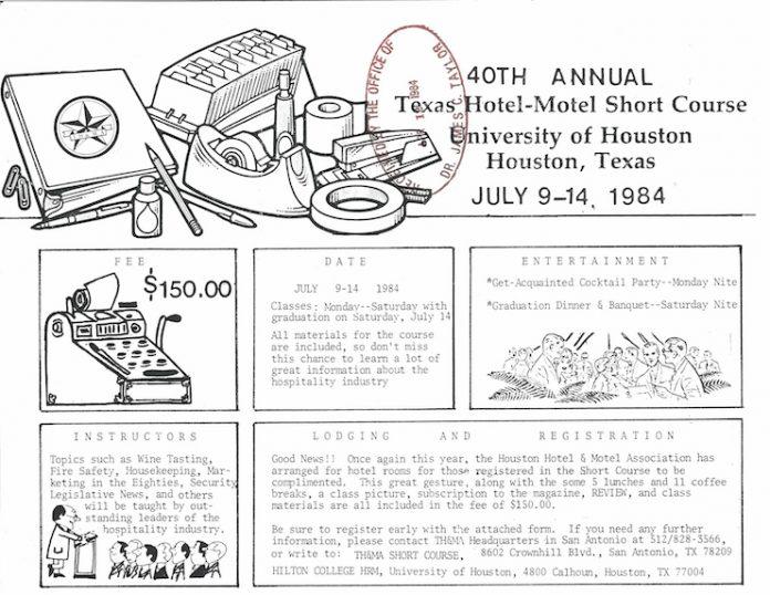 40th Annual TH&MA Short Course