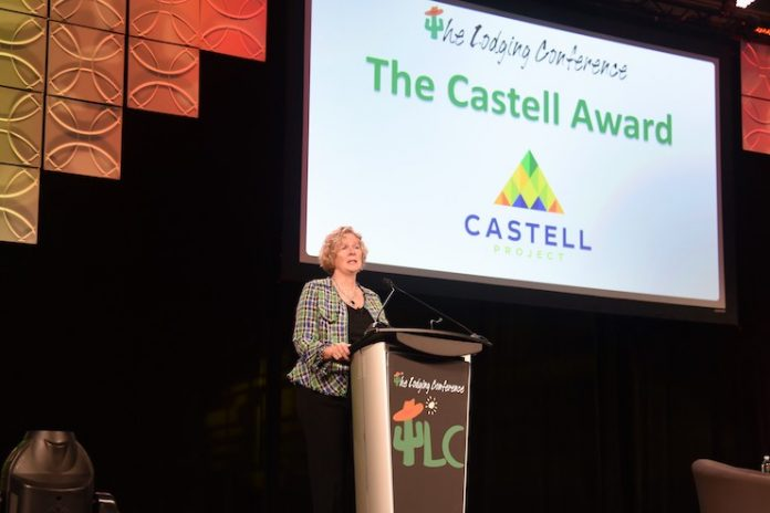 Heather McCrory, Accor CEO of North & Central America, was the recipient of the inaugural Castell Award in 2019.