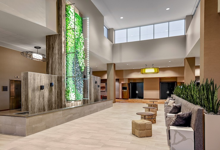 Embassy Suites by Hilton Jonesboro Red Wolf Convention Center lobby
