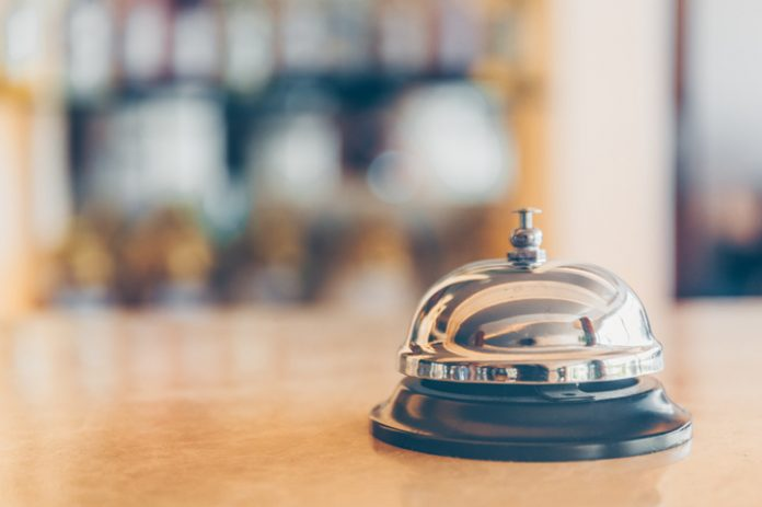 bell at the front desk