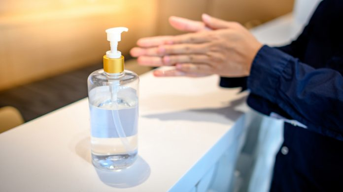 If possible, hotels should provide alcohol-based hand sanitizer that contains at least 60 percent alcohol in all guest contact areas and to all staff.