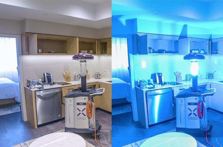 UV light, virus-killing robot