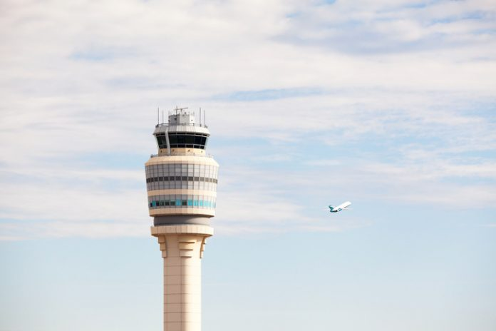 Airport control tower at Atlanta's Hartsfield-Jackson Airport