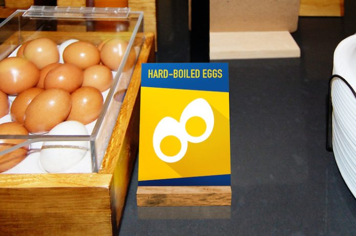 Counter Easel Sign