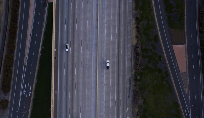 Empty highway during COVID-19