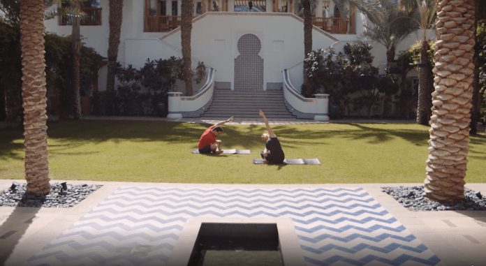 Hyatt outdoor yoga
