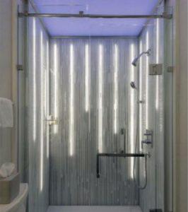 The Bruskin Glass Modular Shower by Belstone, Van Nuys, Calif.
