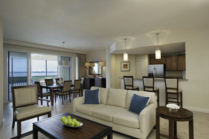 A suite at The Westin Cape Coral Resort at Marina Village