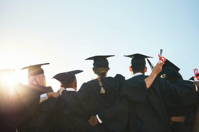 Graduates complete their education