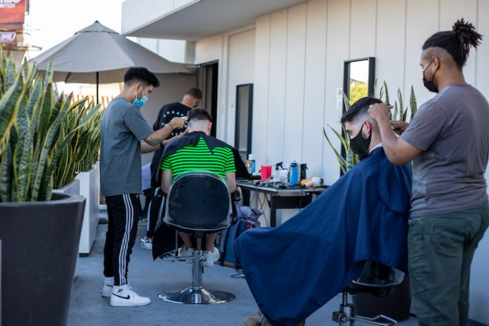 Andaz West Hollywood teamed up with hair experts, Barcode Barbershop, on the hotel's rooftop overlooking the Sunset Strip as part of the Hyatt Loves Local initiative.
