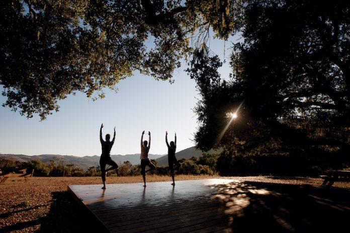 Hilltop yoga at Carmel Valley Ranch