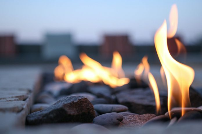 Fire pit / hotel outdoor spaces