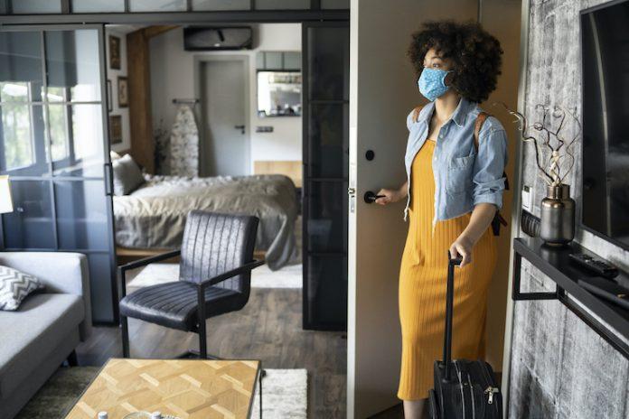 Traveler guestroom face mask