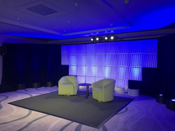 An example of a Presentation Stage at Conrad Fort Lauderdale Beach
