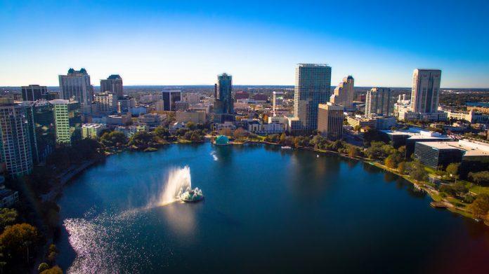 Aerial shot of Orlando, Florida