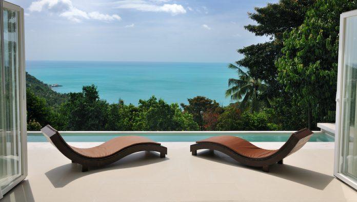 Private villa, beach