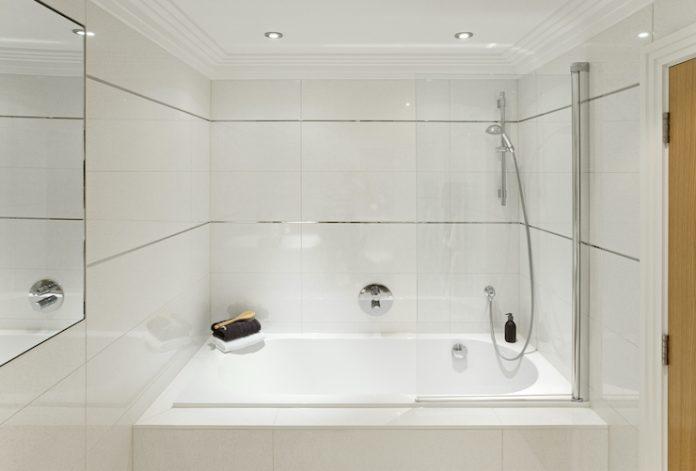 Hotel shower tub