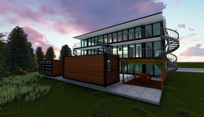 Shipping container hotel - ASJ